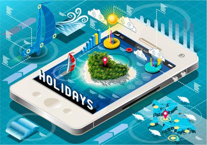 I dispositivi mobili ci aiutano ad organizzare le nostre vacanze