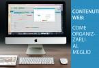Contenuti web - come organizzarli correttamente