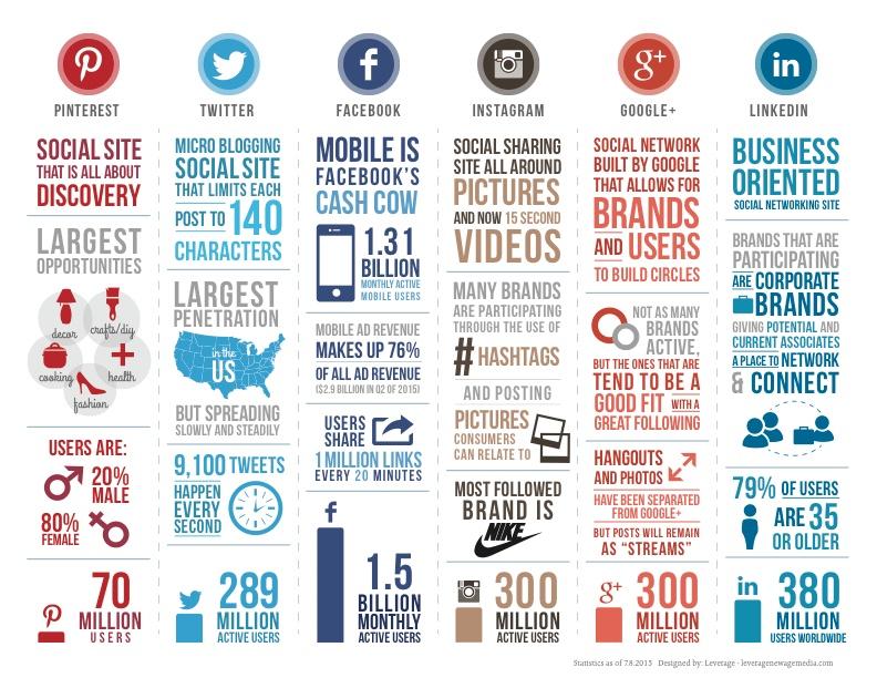 statistiche social 2015