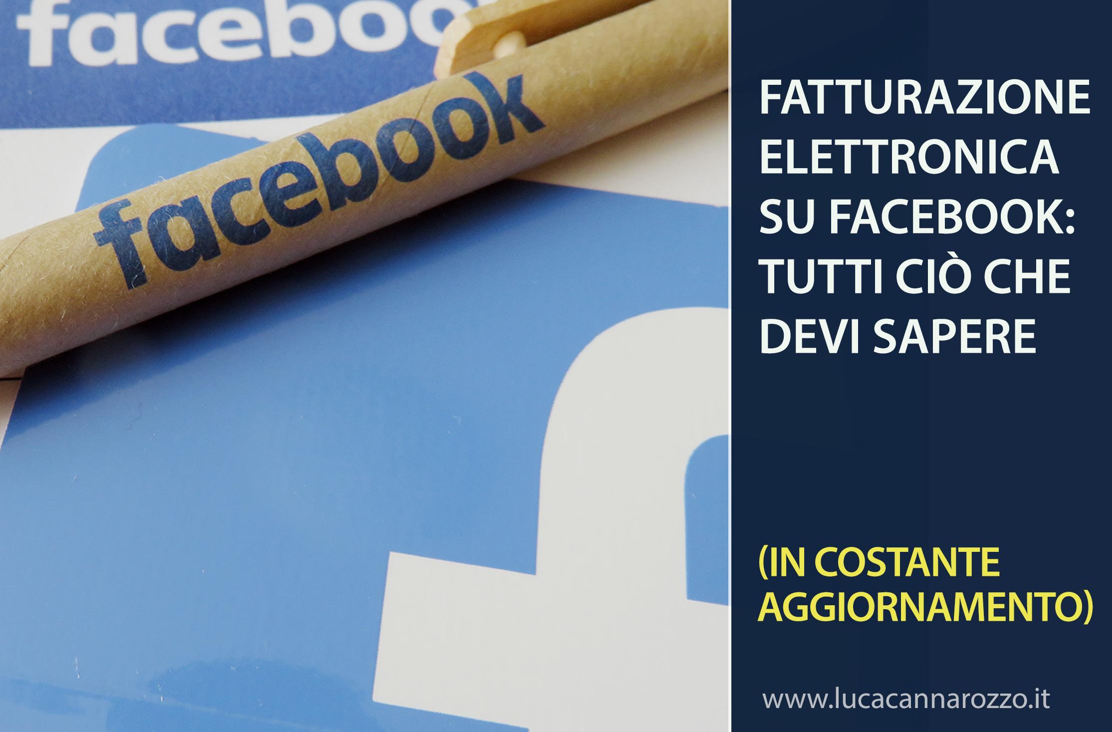 Fatturazione elettronica su Facebook
